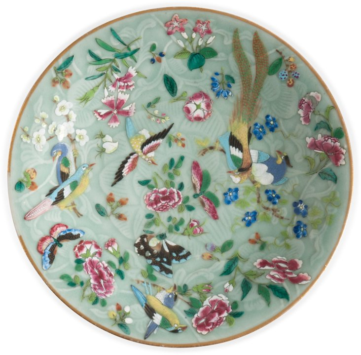 Fine Famille Rose Plate