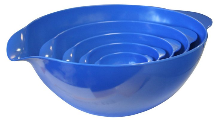 S/5 Mixing Bowls, Azure