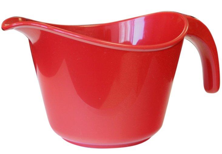 S/2 Microwave-Safe Batter Bowls, Red
