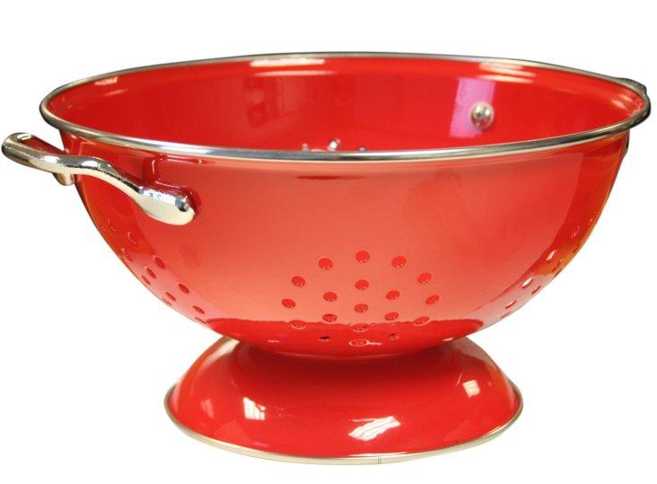 3 Qt Colander, Red