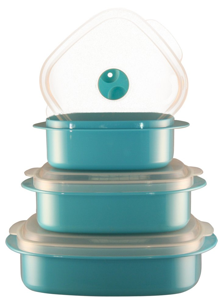 6-Pc Microwave Cookware Set, Turquoise