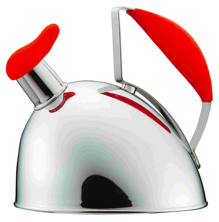 Stainless Steel Tea Kettle, Red