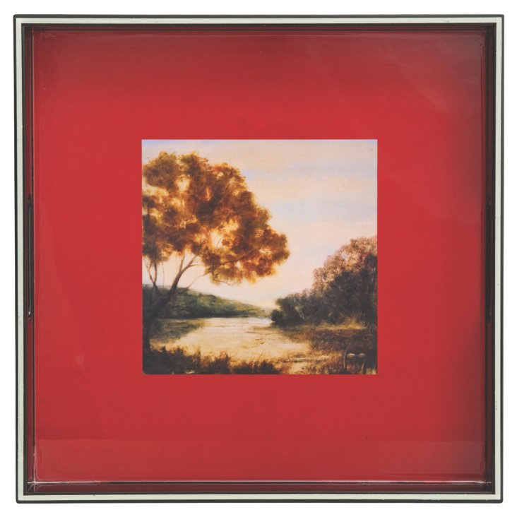 """River Bend Square Tray, 15"""""""