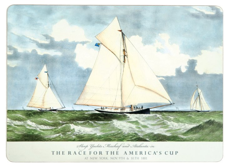 S/4 America's Cup 1881 Place Mats