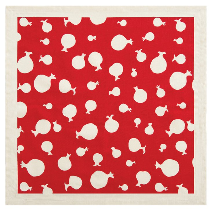 S/4 Quince Napkins, Red