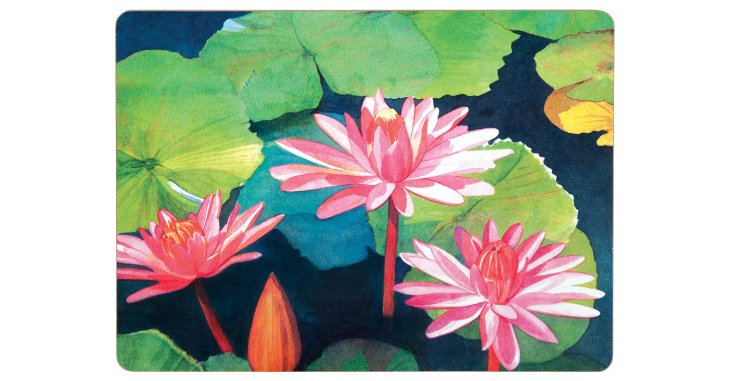 S/4 Water Lilies Place Mats