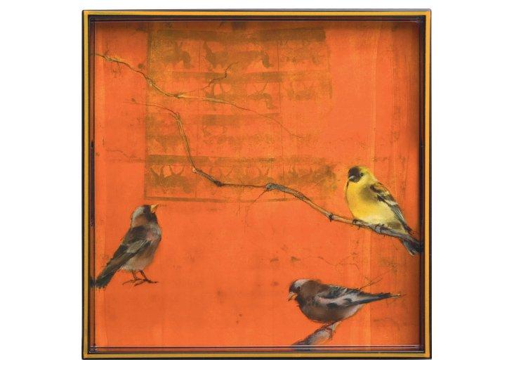 "15"" Orange Finch Tray"