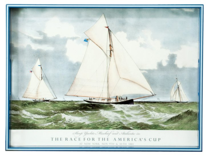 """20"""" 1881 America's Cup Tray"""