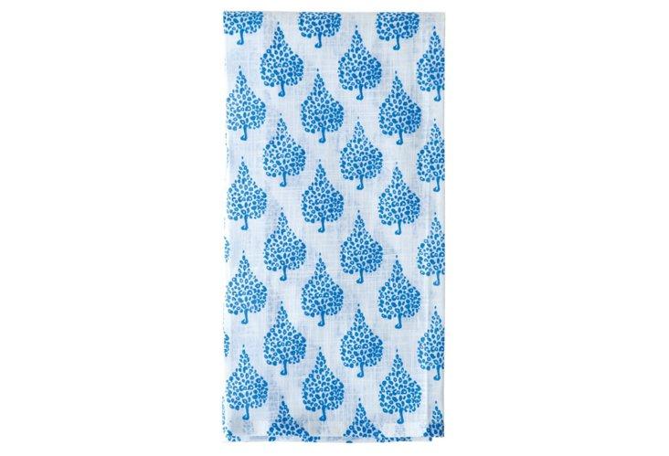 S/3 Kitchen Towels, Blue Crete