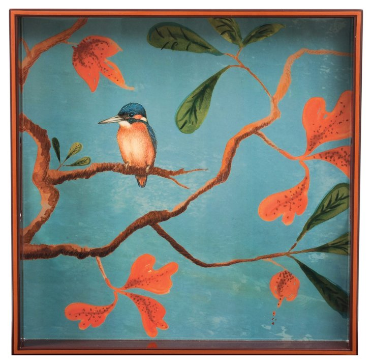 "15"" Square Tray, Kingfisher"