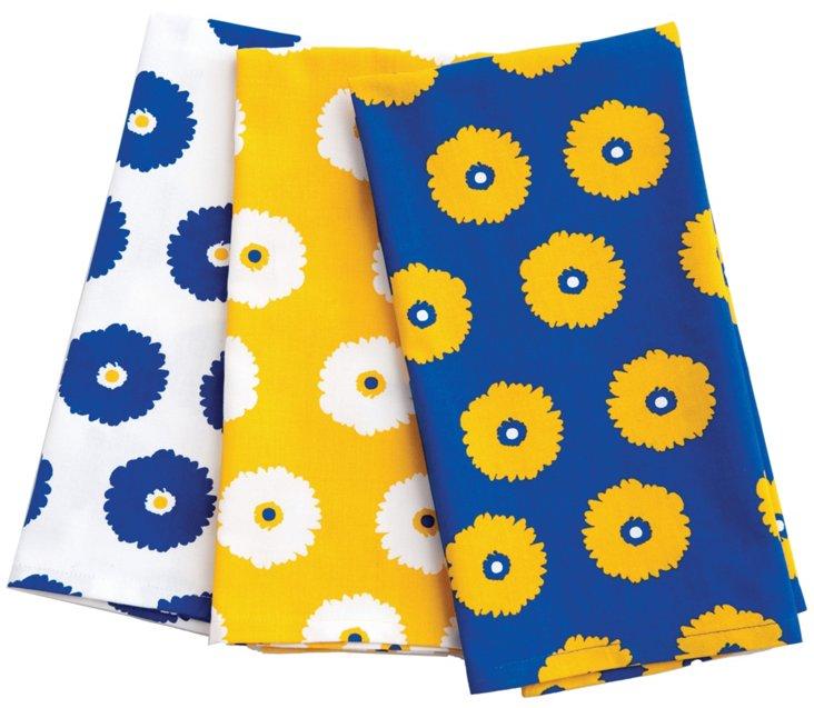 Asst of 6 Gerber Daisy Kitchen Towels