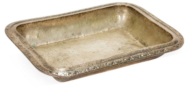 Antique Hotel Silver Tray
