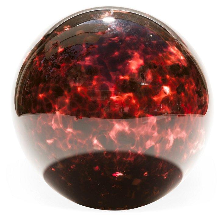 Handblown Glass Ball, Red