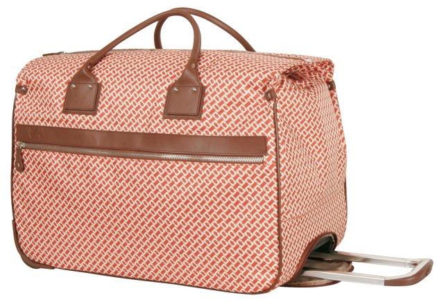 """On The Go 22"""" Wheeled Box Bag, Orange"""