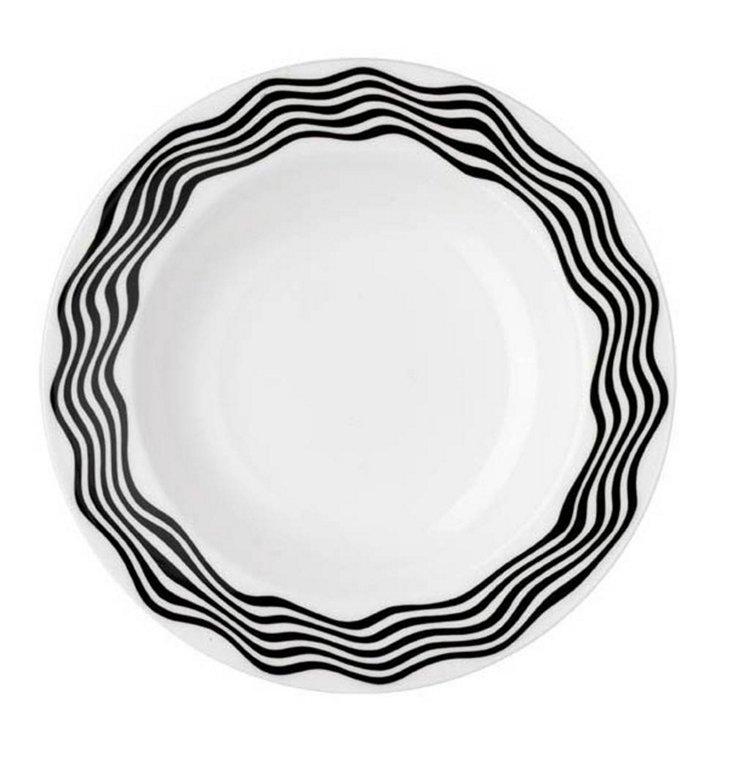 Soup Plate, Black/White