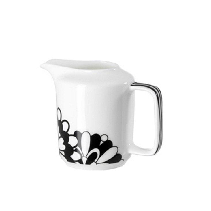 Milk Pot, Black/White