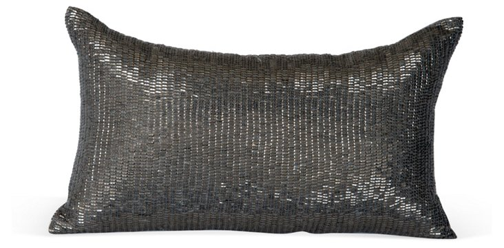Sequin Pillow in Smoke