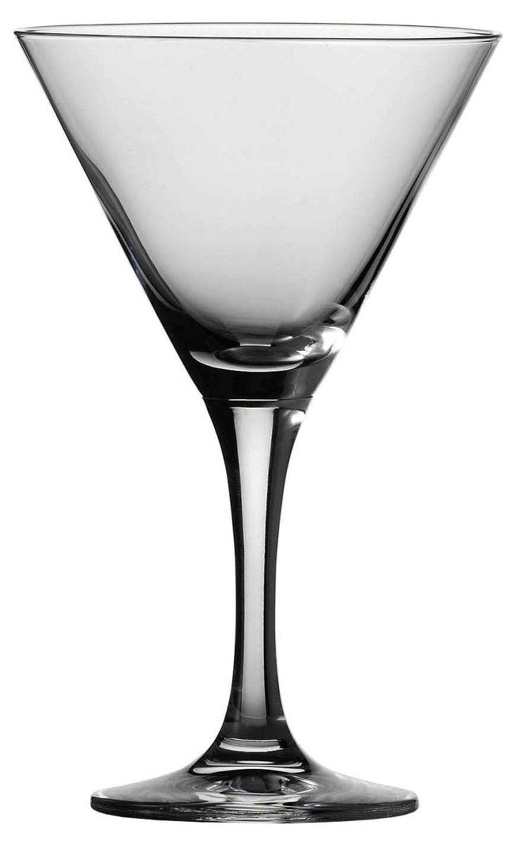 S/6 Tritan Mondial Martini Glasses