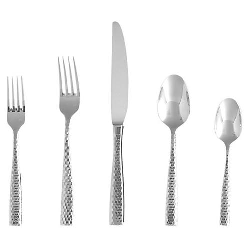 5-Pc Lucca Faceted Boxed Place Setting