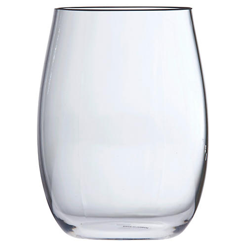 S/6 D&V Outdoor Stemless Blanc Glasses