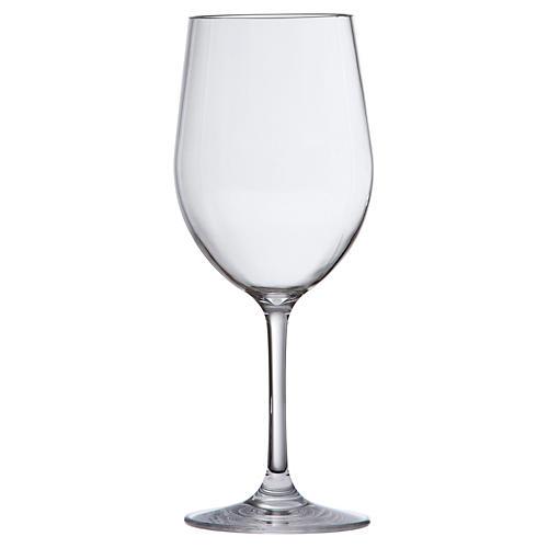 S/6 D&V Poolside White-Wine Glasses