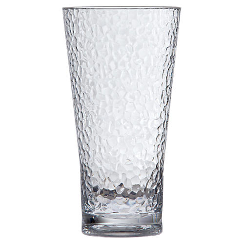 S/6 D&V Poolside Hammered Glasses