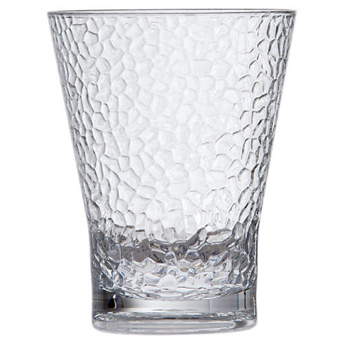 S/6 D&V Poolside DOF Hammered Glasses