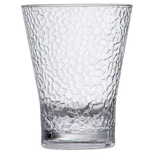 S/6 D&V Poolside DOF Hammered Glasses