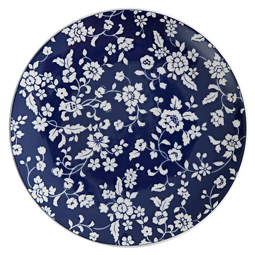 Nantucket Garden Salad Plate, Blue