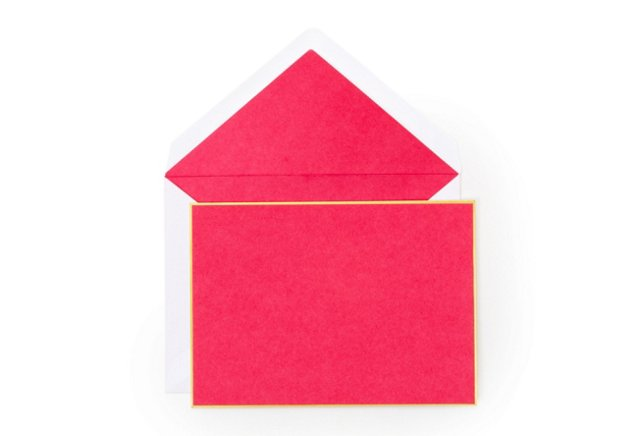 S/16 Fine Note Card Set, Pink