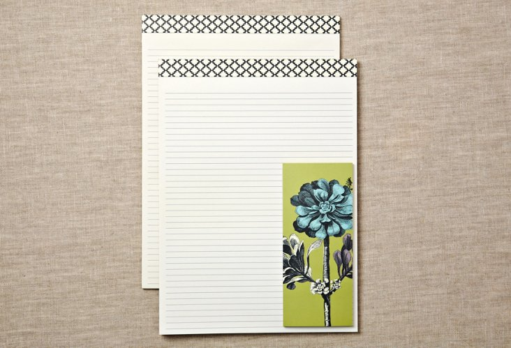 Botanical Note Pads & List Pad Set