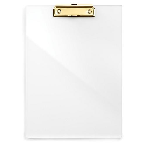 Acrylic Clip Board, Gold