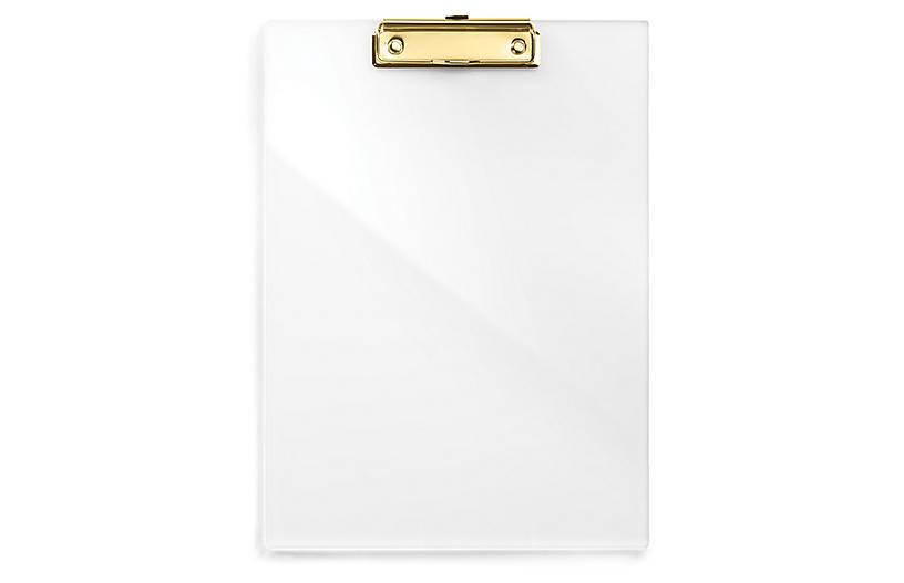 Acrylic Clip Board - Gold - russell + hazel