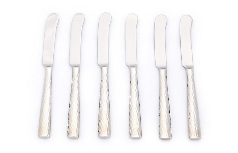 S/7 Anvil Pâté Knives, Silver