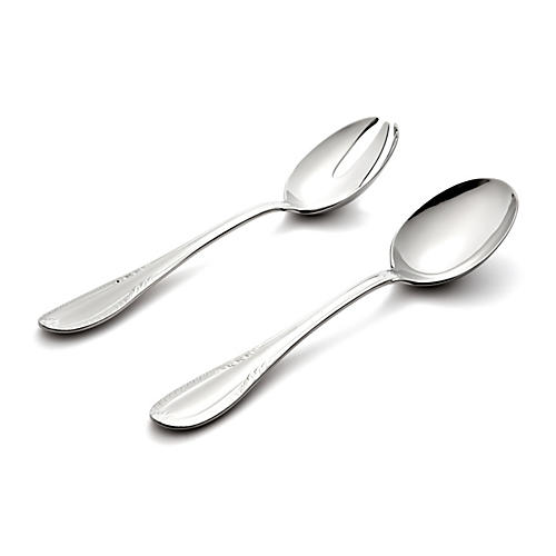 Asst. of 2 Impero Salad Set, Silver