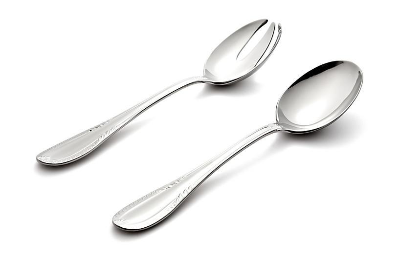 Asst. of 2 Impero Salad Set, Silver
