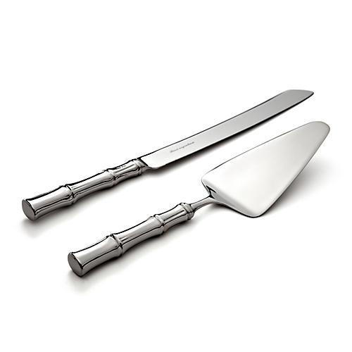 2-Pc Bamboo Cake Knife & Server