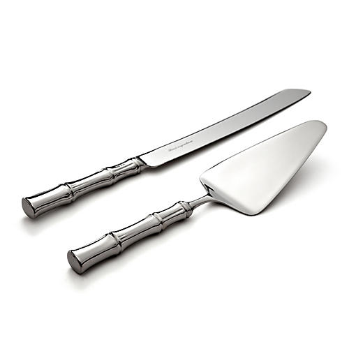2-Pc Bamboo Cake Knife & Server