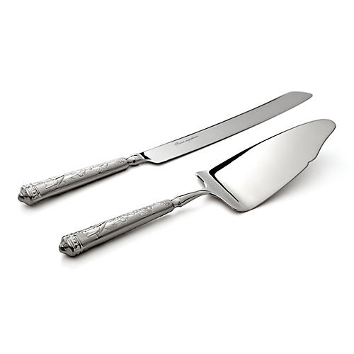 2-Pc Audubon Cake Knife & Server