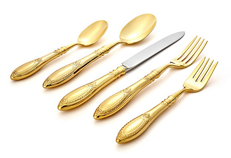 20-Pc Donatello Set, Gold-Plated