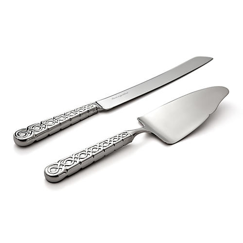 2-Pc Labirinto Cake Knife & Server