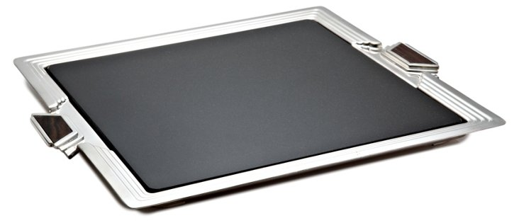 Silver-Plated Art Deco Serving Tray