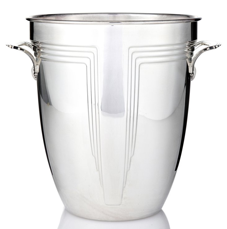 Silver-Plated Art Deco Champagne Cooler