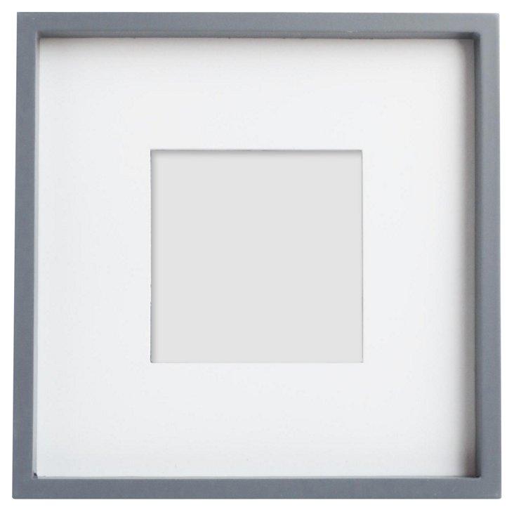 Frame w/ Wood Matte, 4x4, Gray
