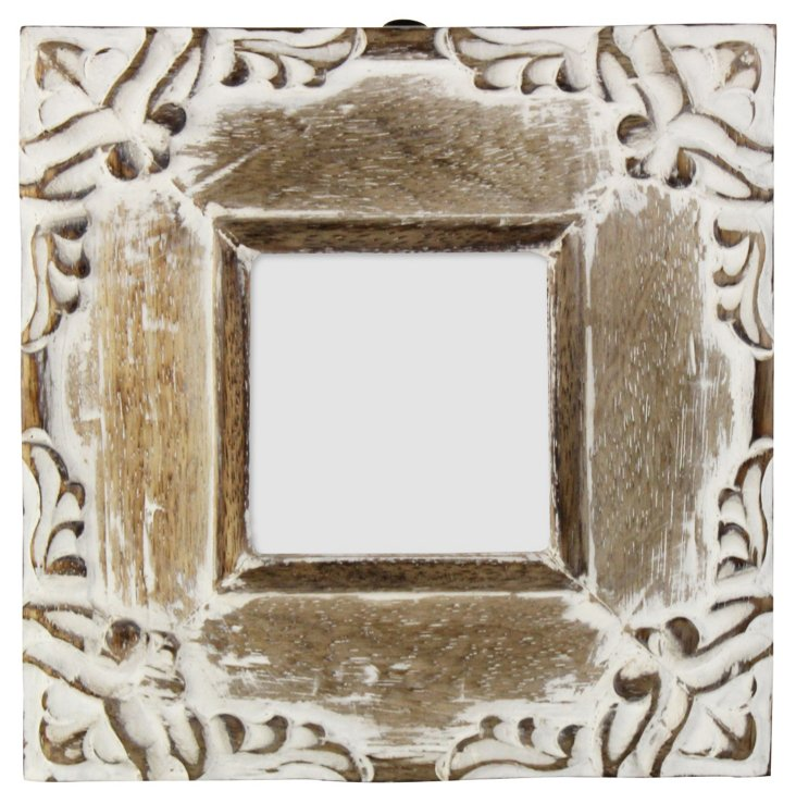 Distressed Wooden & Metal Frame, 3x3