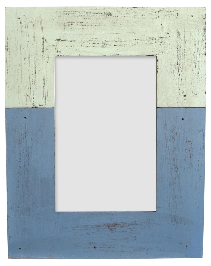 Distressed Wood Frame, 4x6, Blue
