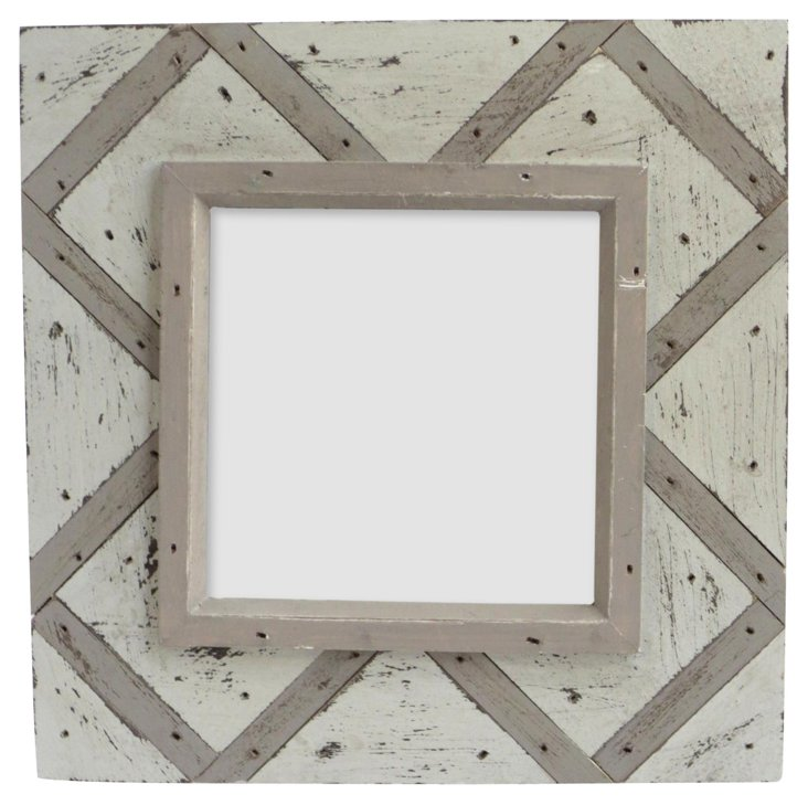 Thatch Design Wood Frame, 4x4, Taupe