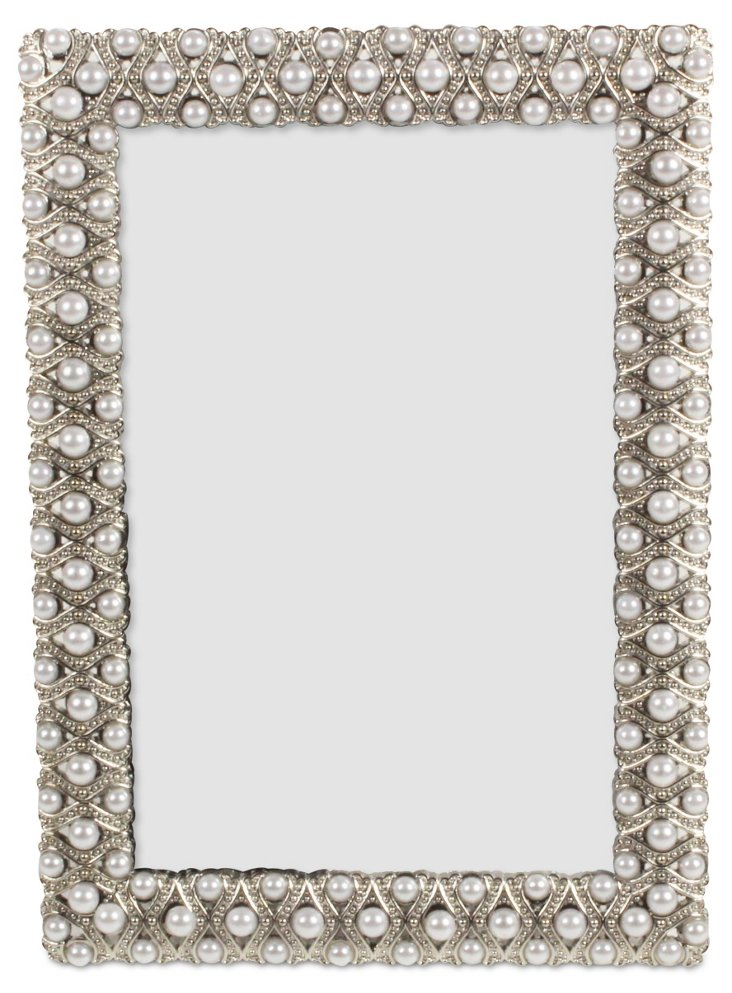 All Around Pearl Frame, 4x6, Silver