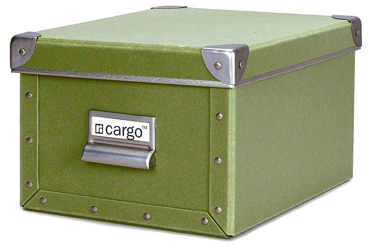 S/2 Cargo Photo/Media Boxes, Sage