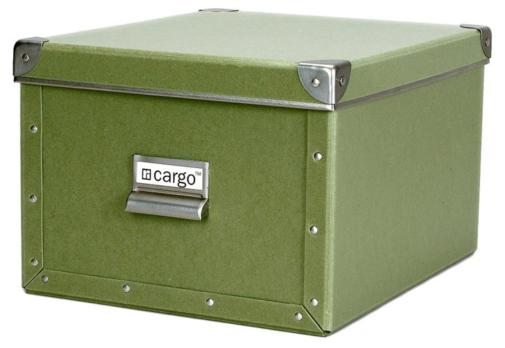 S/2 Cargo Shelf Boxes, Sage